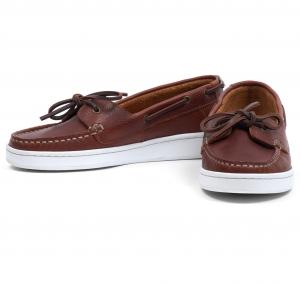 Barbour Ladies Miranda Boat Shoes Cognac Leather