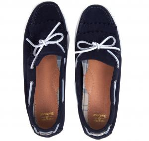 Barbour Ladies Klara Loafers Navy Suede