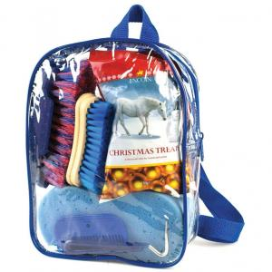 Lincoln Grooming Kit and Treats Bag Blue