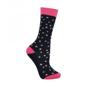 Little Riders Childs Unicorn Socks 3 Pack Navy/Fuschia