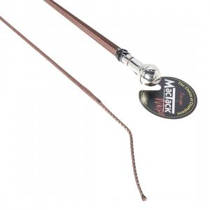 MacTack Dressage Whip Silver Ball Cap Brown