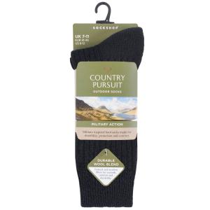 Country Pursuit Short Military Action Socks Black