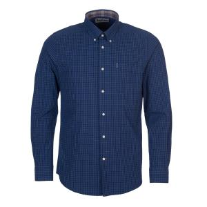 Barbour Mens Gingham 9 Tailored Shirt Indigo