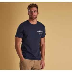Barbour Mens Preppy Tee New Navy