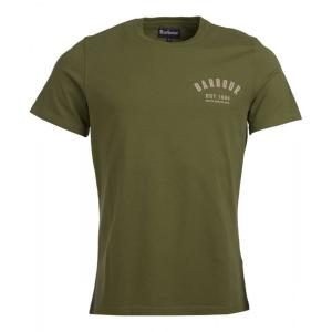 Barbour Mens Preppy Tee Burnt Olive