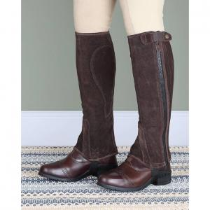 Moretta Childs Suede Half Chaps Brown