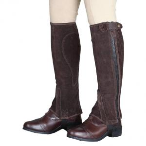 Moretta Adults Suede Half Chaps Brown