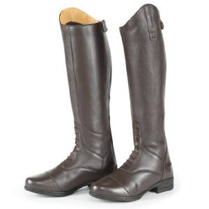 Moretta Ladies Gianna Leather Field Riding Boots Brown