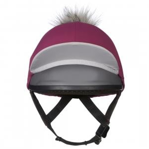 My LeMieux Hat Silk Plum/Grey