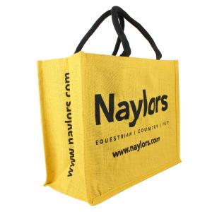 Naylors Hessian Jute Bag Yellow/Black