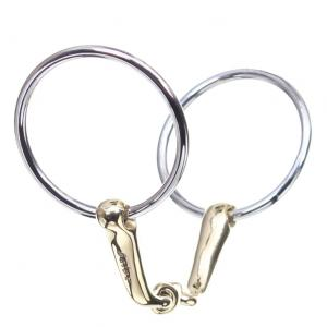 Neue Schule Verbindend Bradoon 12mm Mouth 55mm Loose Ring