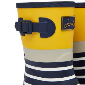 Joules Ladies Molly Mid Height Wellies Navy Engineered Stripe