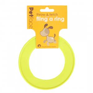 Petface® Fling-a-ring Small Yellow