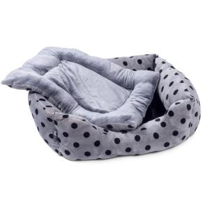 Petface® Plush Square Bed Grey