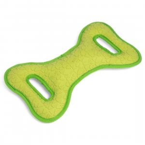 Petface® Textured Toys Squeak Tugger Green