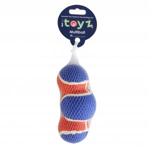 Petface® Toyz Multi-Ball Toy Blue/Red