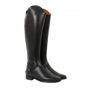 Petrie Leeds Plain Sole Riding Boots Black