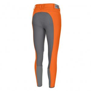 Pikeur Ladies Charline Grip Full Seat Breeches Mandarin/Steel Grey