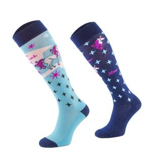 Comodo Children's Novelty Socks Blue Unicorn