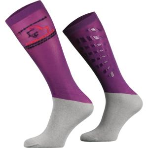 Platinum Agencies Adults Silicone Grip Socks Violet