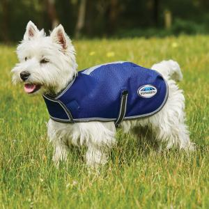 WeatherBeeta ComFiTec Premier Free Parka 220g Medium Weight Dog Coat Dark Blue/Grey/White