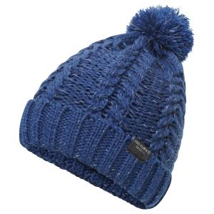 Pro Climate Ladies Alica Chunky Knit Pom Hat with Hi Vis Navy