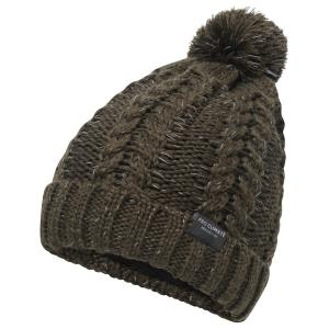 Pro Climate Ladies Alica Chunky Knit Pom Hat with Hi Vis Olive
