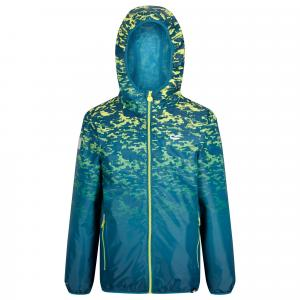 Regatta Boys Printed Lever Jacket Sea Blue
