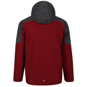Regatta Mens Calderdale III Jacket Dehli Red Magnet Grey