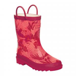 Regatta Childs Minnow Wellies Peach Bloom/Dark Cerise