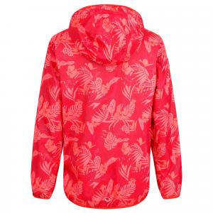 Regatta Girls Printed Lever Jacket Coral Blush