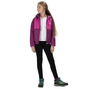Regatta Girls Volcanics lll Waterproof Jacket Winberry/Vivid Viola