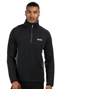 Regatta Mens Highton Half Zip Fleece Black Magnet
