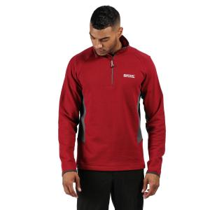 Regatta Mens Highton Half Zip Fleece Dehli Red Magnet