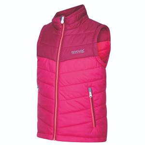 Regatta Childs Freezeway II Bodywarmer Dark Cerise/Beetroot
