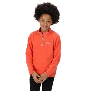 Regatta Kids Hot Shot II Lightweight Half Zip Fleece Fiery Coral