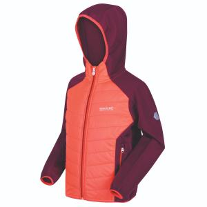 Regatta Junior Kielder Hybrid IV Jacket Fiery Coral/Beetroot