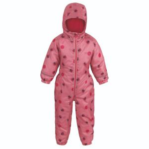 Regatta Junior Printed Splat II Rainsuit Brandied Apricot