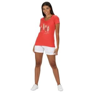 Regatta Ladies Filandra IV Tee Shirt Red Sky