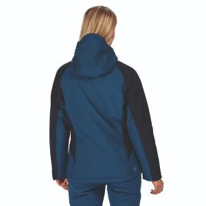 Regatta Ladies Highton Stretch Waterproof Padded Jacket Blue Opal/Navy