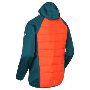 Regatta Mens Anderson IV Hybrid Jacket Deep Teal/Burnt Salmon