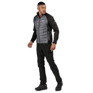Regatta Mens Bestla Hybrid Jacket Black Magnet