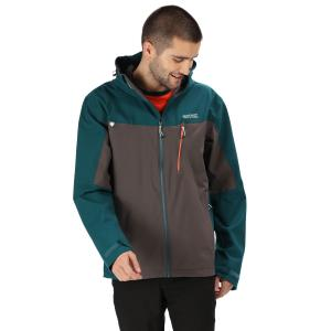 Regatta Mens Birchdale Waterproof Jacket Deep Teal/Magnet