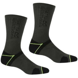 Regatta Mens Blister Protection II Socks Black/Electric Lime