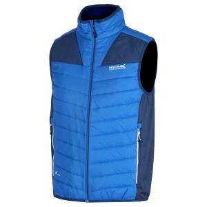 Regatta Mens Halton lll Hybrid Gilet Oxford Prussian Blue