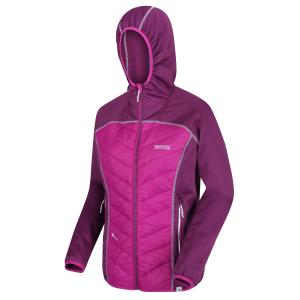 Regatta Ladies Anderson IV Hybrid Jacket Dark Denim Winberry Violet Viola