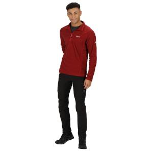 Regatta Mens Montes Half Zip Fleece Chinese Red/Black