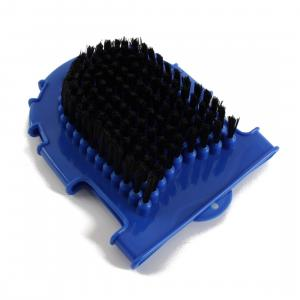 Roma Bristle Back Grooming Mitt Blue