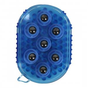 Roma Massage Rubber Mitt Blue