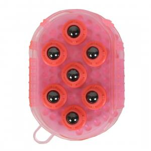 Roma Massage Rubber Mitt Pink